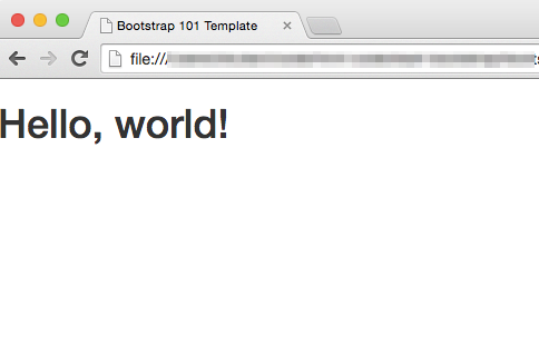 first-bootstrap7